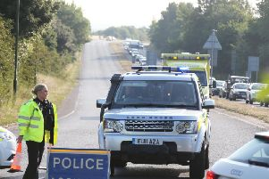 Emergency services respond to the collision in Littlehampton
