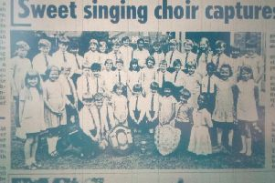 A cutting from the Advertiser in July 1969 featuring Northlands School choir