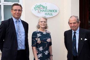 Lodge Hill Trust has renamed its main hall after its founder Penny Hardwick (centre) SUS-191208-103324001