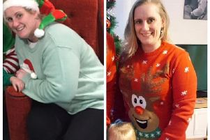 Emma Marr (left) before she started at Slimming World and right following her weight loss
