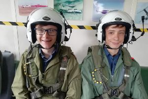 Cadets Mason and Reynolds kitted out and ready to fly EMN-190813-093919001
