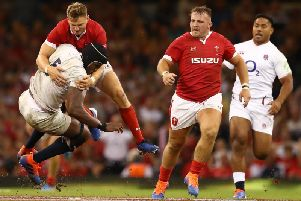 Dan Biggar made a crucial hit on Maro Itoje when Wales beat England last weekend