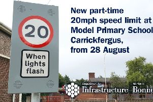 The part-time speed limit will be introduced outside Model Primary.