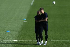 John Stones is back in training for Manchester City (getty)