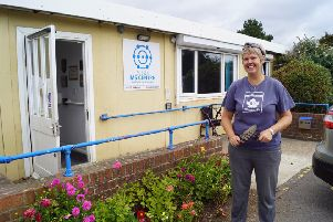 Shoreham Port finance executive Lynn Archer-Matthews at the Sussex MS Centre in Southwick