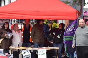 The Bucks Trade Union Unison at an event in Market Square earlier this year