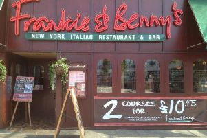 There are four Frankie & Benny's restaurants in Sussex