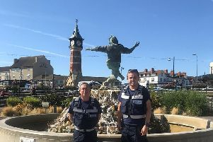 Skegness Street Wardens Dale Fox and Joshua Lowe.