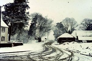 Prospect Lane to the north-east of Leigh Park during the snow of 1966. Photo: Charles Sexton.