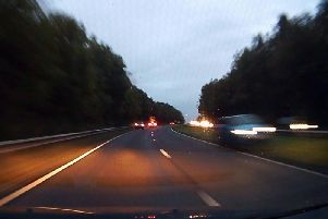 Dashcam footage shows the terrifying moment