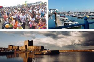 Some of the images we received of Carrickfergus.