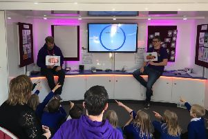 The National Deaf Children's Society roadshow visited Whitehead Primary,
