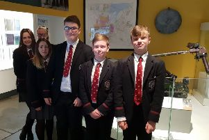 Carrickfergus Grammar School's year 11 history students toured the Ulster Museum.