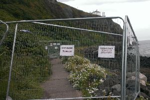 Sections of Blackhead Path have been closed for health and safety reasons. INCT 32-790-CON