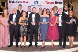 The main award winners at the Mid-Ulster Business awards. INMU50-232.