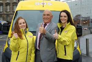 Caitlin McCartney, SOS NI volunteer co-ordinator; James Hagan, chair and founder of Hagan Homes; and Joanne McQuillan, operations manager, SOS NI. Pic by Kelvin Boyes/Press Eye.