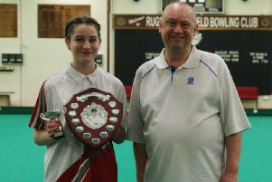 Winner Izzy Pymm with organiser Darren Wheeler