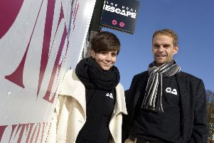 Andras Szabo, managing director at the Real Escape, pictured with wife Agnes