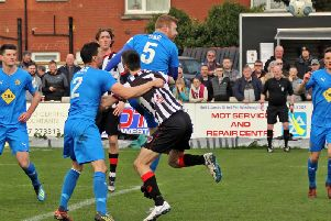Action from Brakes' loss to Chorley. Pictures by Sally Ellis