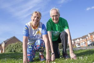Lisa Whelan and Trevor Hardwell are gearing up to take on the London Marathon on April 28 together and will be cheering each other on until they cross the finish line.