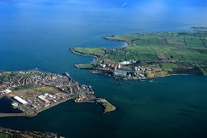 An aerial view of Islandmagee.