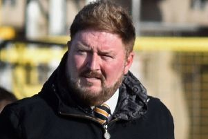Carrick Rangers boss Niall Currie. Pic by Tony Hendron.