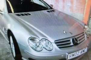 Police are investigating the theft of this car.