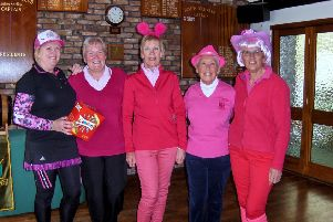 Yvonne Shaffarczyk, Jenny Geeson, Jacquie Short, Lady Captain Pam Clare and Chris Sherriff.