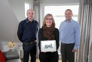 (L-R) Jonathan Ogilby, director at MIS Claims; Dawn McConnell, founder of Hope House and Jeremy Biggerstaff, managing director at Flint Studios.