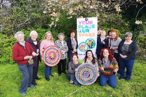 Participants at the recent Craft Make and Take event in Whitehead as part of the Woollen Woods initiative.