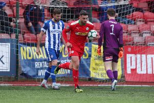 Joe Gormley was on target for Cliftonville against Coleraine