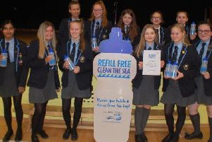NI Water Education Team brings lessons about 'Refill' to Parkhall Integrated College