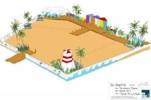 Artistic impression of the Urban Beach Design