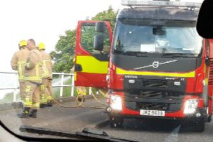 Fire fighters attended a blaze at Coast Road outside Larne.