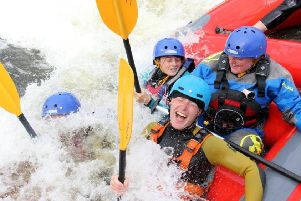 Having a splashing time at Army Cadets' Camp.