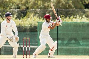 Jeevan Barhey (pictured batting last summer) hit 25 for the 1sts on Saturday