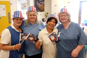 Staff at Knockagh Rise Nursing Home got into the spirit of Independence Day.