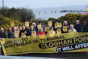 Opponents of Cloghan Point development plans.