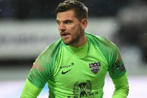 AS Eupen goalkeeper Hendrik Van Crombrugge