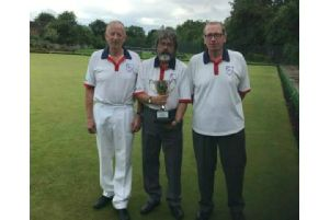 Len Taylor Triples winners Bilton's John Greer, Steve Wilson and Lee Ingleston