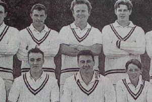 Carrick Cricket Club seconds, joint winners of the NCV Intermediate Cup Finals. 1991