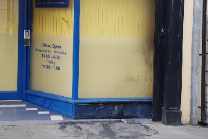 Scorch damage at the West Street premises.