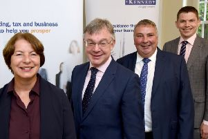 From left, Denise Eyles, Paul Laird, Tim Croft and Chris Nisbet.