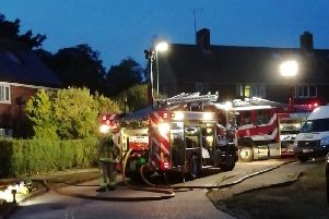 The fire service was called to Priory Field in Upper Beeding