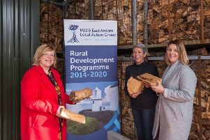 L-R: Kelli Bagchus, MEA LAG chairperson, Karyn Brown, SPR McGowan, and Rosemary McCormick, Investment & Funding Delivery manager.