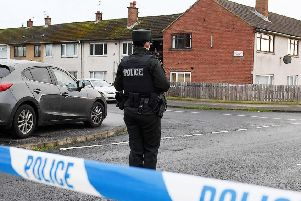 The scene in the Woodburn area of Carrickfergus where police and forensic teams attended a sudden death Saturday night.  Picture by Jonathan Porter/PressEye