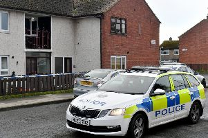 Police officers are currently at the scene of a sudden death of a man aged in his 40s, in Ashleigh Park, Carrickfergus on Saturday evening. Photo:Kirth Ferris/Pacemaker