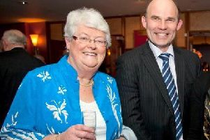 May Steele MBE JP with Roy Beggs MLA.