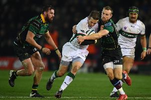 Rory Hutchinson tried to get to grips with Stephen Myler