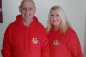 Jonny Ewart and Tracey McNickle from Carrick Connect.